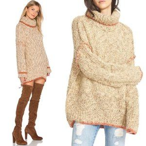 Free People Echo Turtleneck Cream Sweater Dress